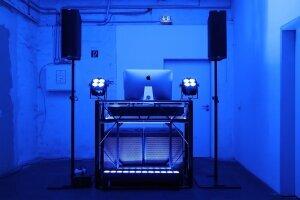 DJ Torberg Aufbau blau
